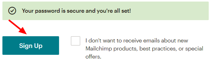 Mailchimp Activation Process