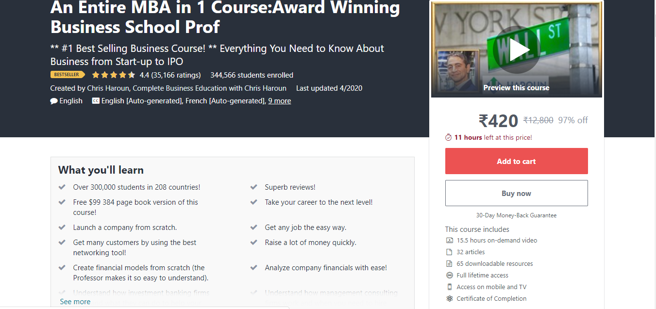 An Entire MBA in One Course