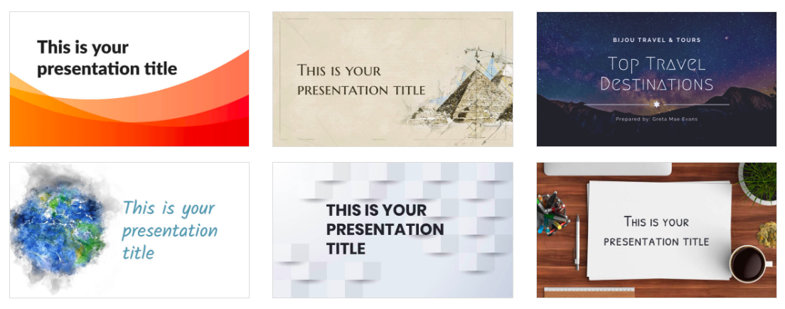 slidescarnival's library of presentation templates