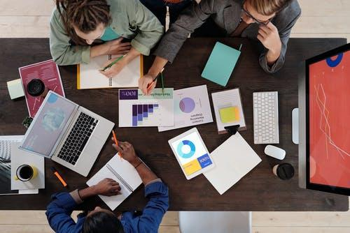 Free stock photo of above, brainstorming, business