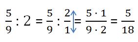 деление дроби на число