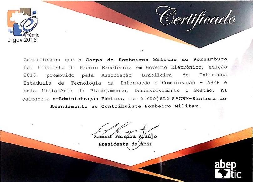 certificado do cbmpe
