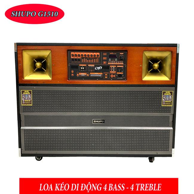 Siêu Khủng - Siêu Chất: Loa Kéo 4 Bass - 4 Treble Shupo G1510
