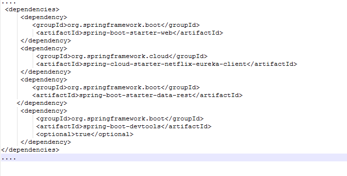 pom.xml code