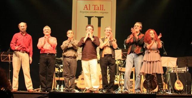 El grupo musical valenciano Al Tall, en una actuación.