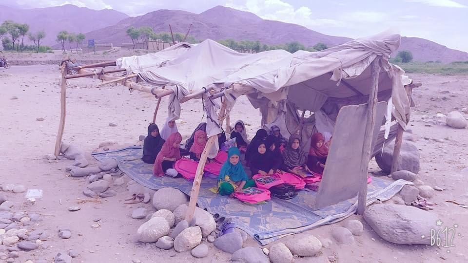 Girl's attend a makeshift class in the interiors of Afghanistan.jpg