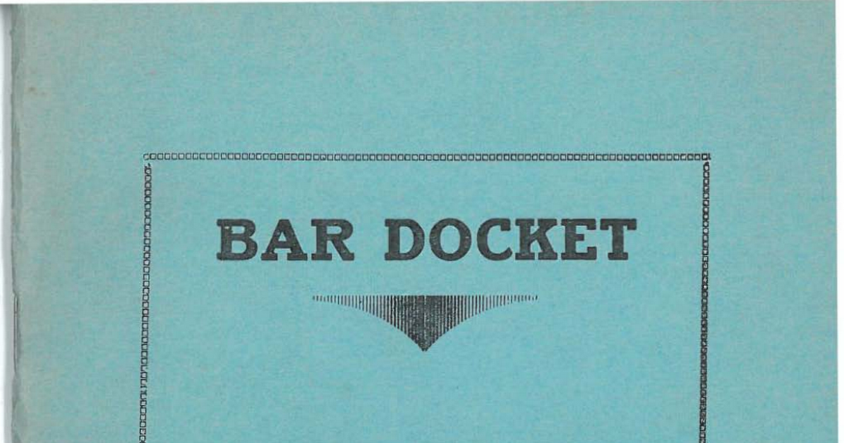Barry County Circuit Court Bar Docket March 1951 pdf