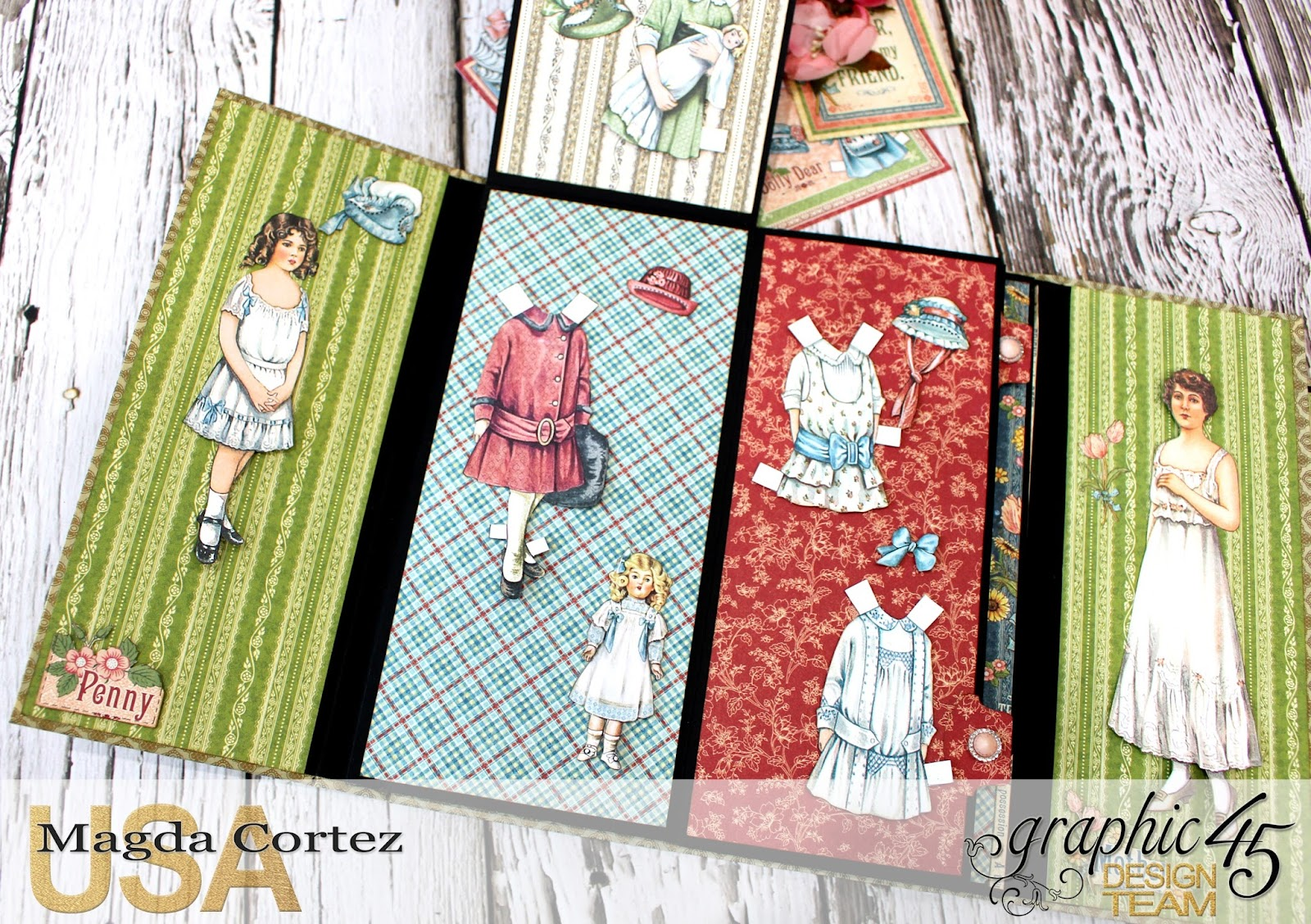 Penny's Paper Doll Family Book, Penny's Paper Doll Family, By Magda Cortez, Product of Graphic45, Photo 07 of 12.jpg