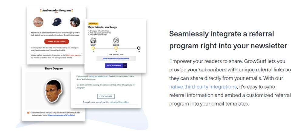 email newsletter referral program