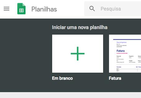 Planilha Google Sheets