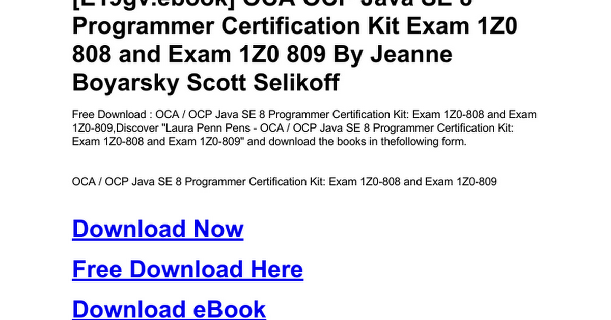 oca-ocp-java-se-8-programmer-certification-kit-exam-1z0-808-and-exam ...