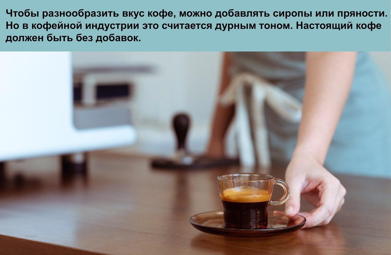 Рецептура приготовления кофе
