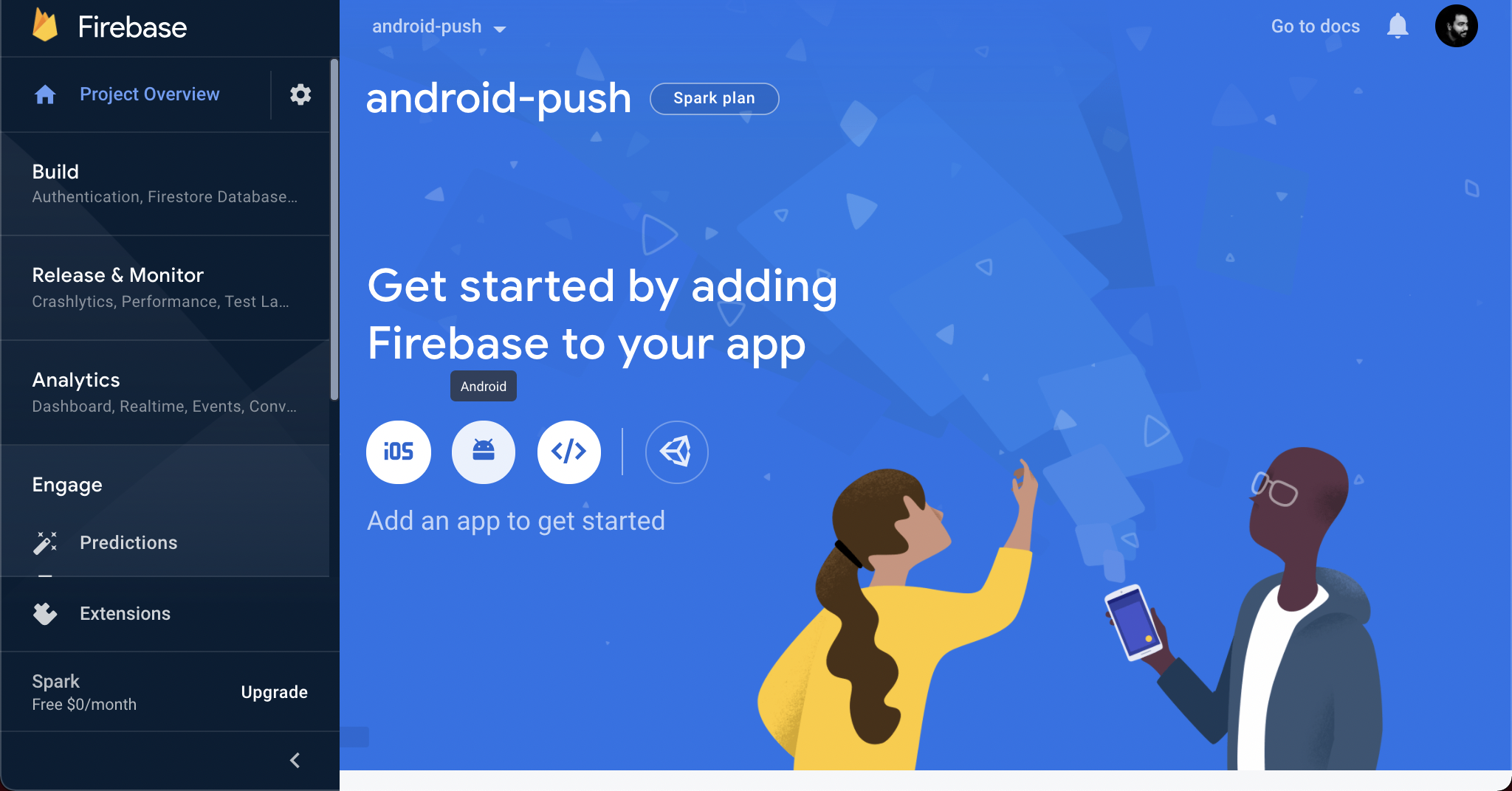 Add your Android app to the project