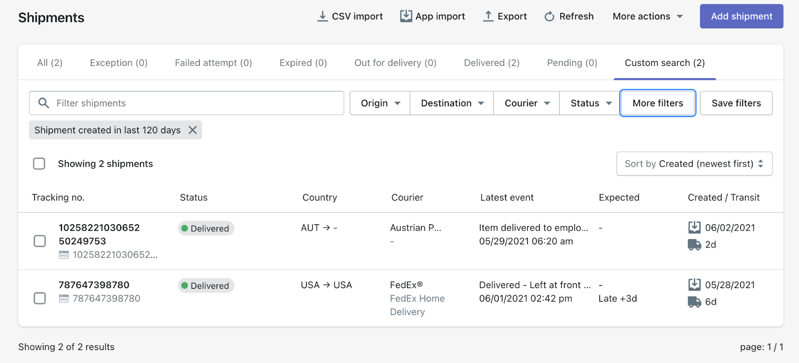 AfterShip New Features: Order & Pickup Date, Promised Delivery Date and More