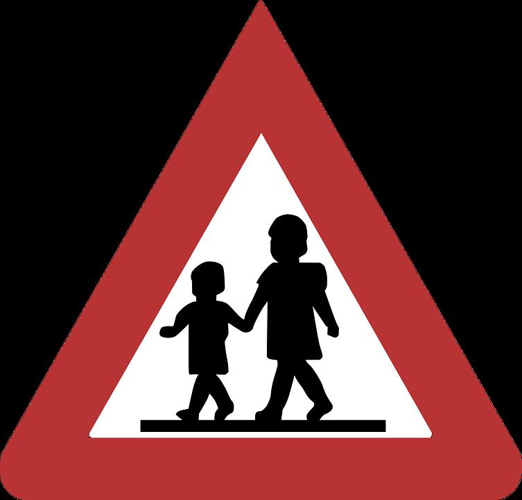 Sign, Children, Caution ...
