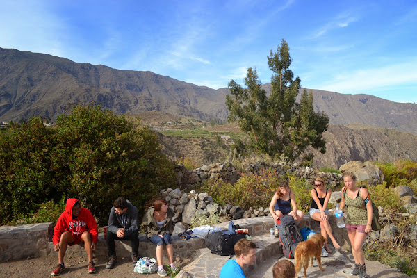 Friends from different adventures all came together for Colca