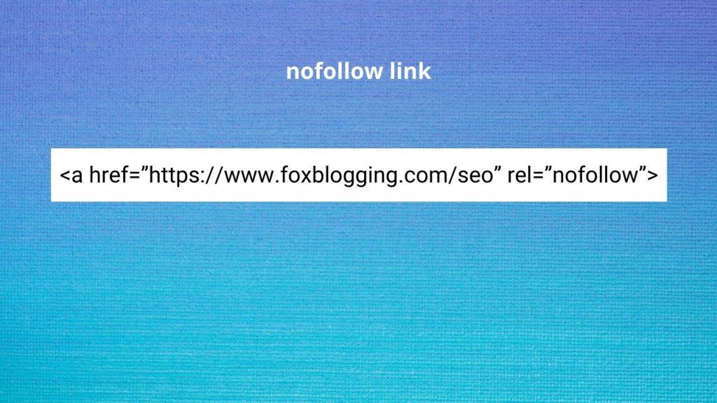 Nofollow link example