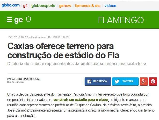 Flamengo não tem estádio, mas tem promessa há anos