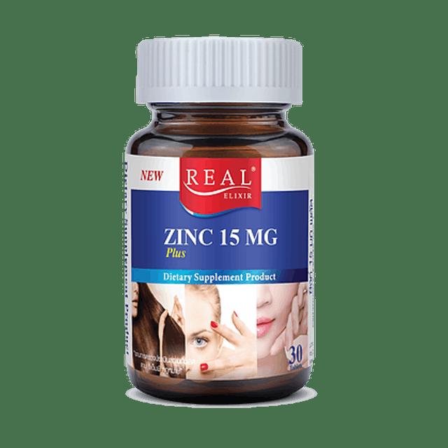 3. อาหารเสริม Zinc  Real Elixir ZINC PLUS