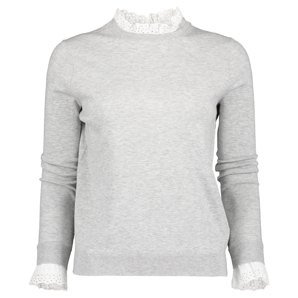 Kaytiie Broiderie Mockable Jumper
