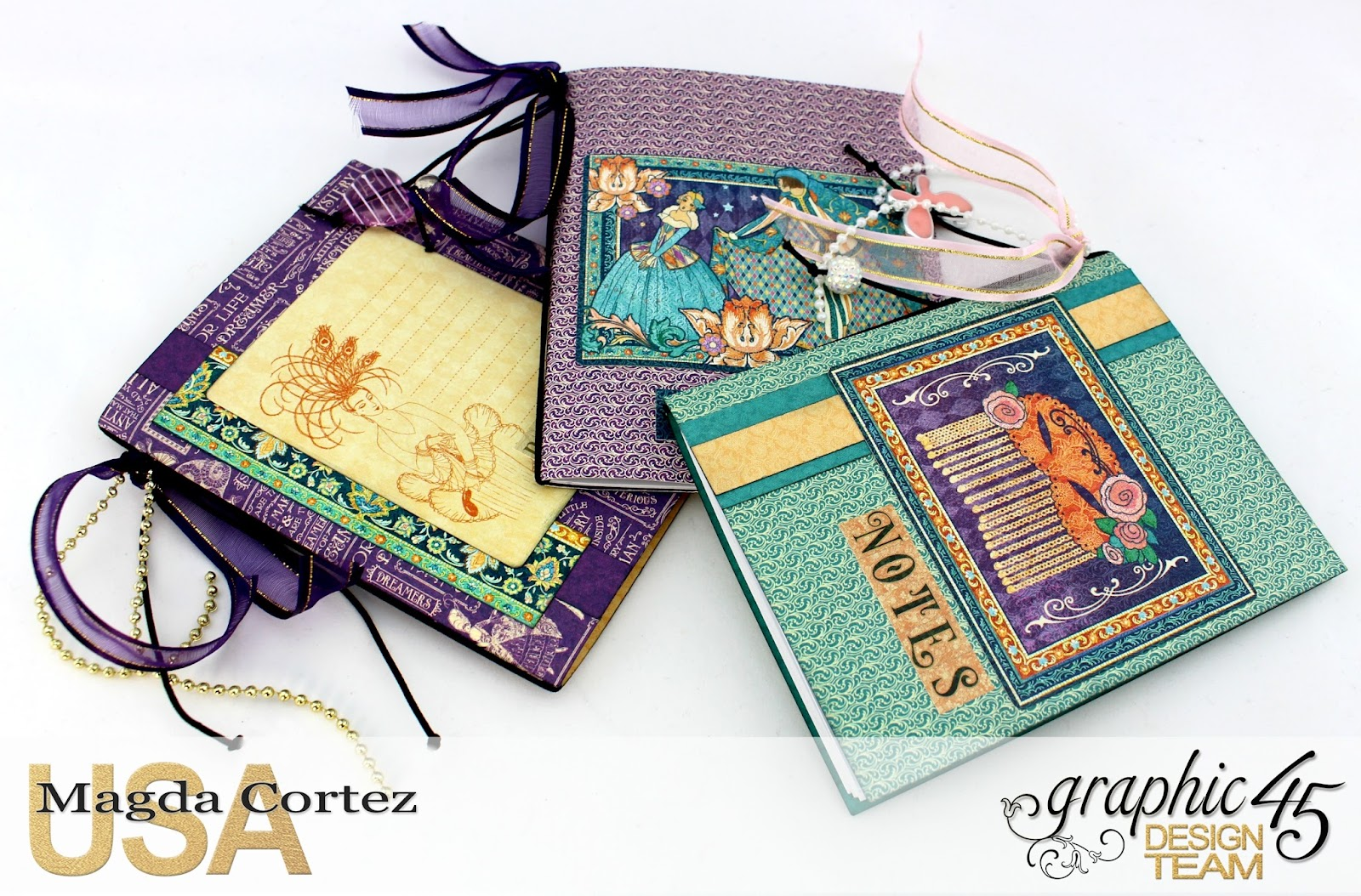 60 Second Tutorial Mini Notebooks, Midnight Masquerade, By Magda Cortez, Product by Graphic 45, Photo 07 of 07, with Tutorial.jpg