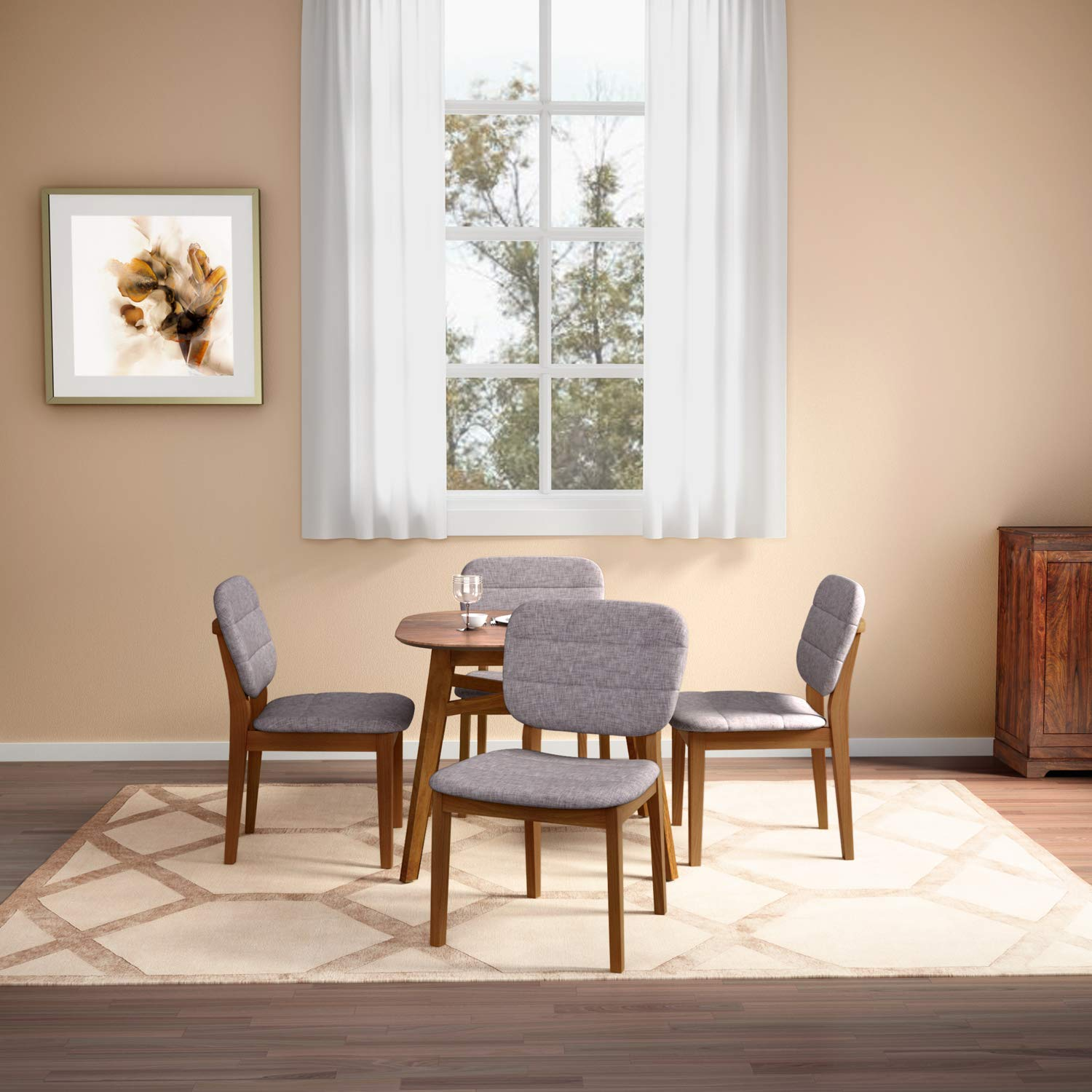 GODREJ INTERIO Alaska 6 Seater Dining Table Set