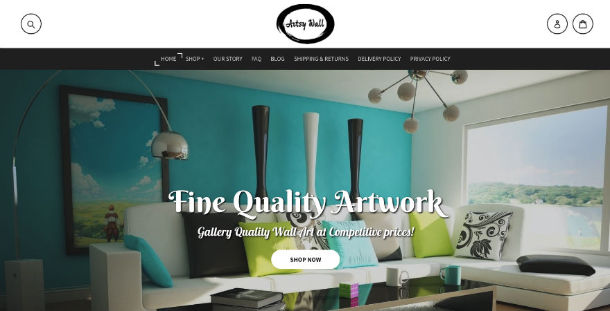 Artsy Wall Homepage