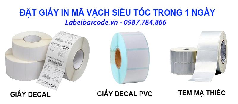 Chất liệu giấy decal in mã vạch đa dạng cho từng mục đích sử dụng
