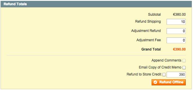 Verzendkosten vergoeden bij een RMA in Magento Enterprise