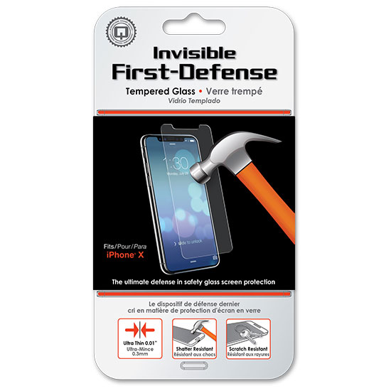 First defense tempered glass screen protector
