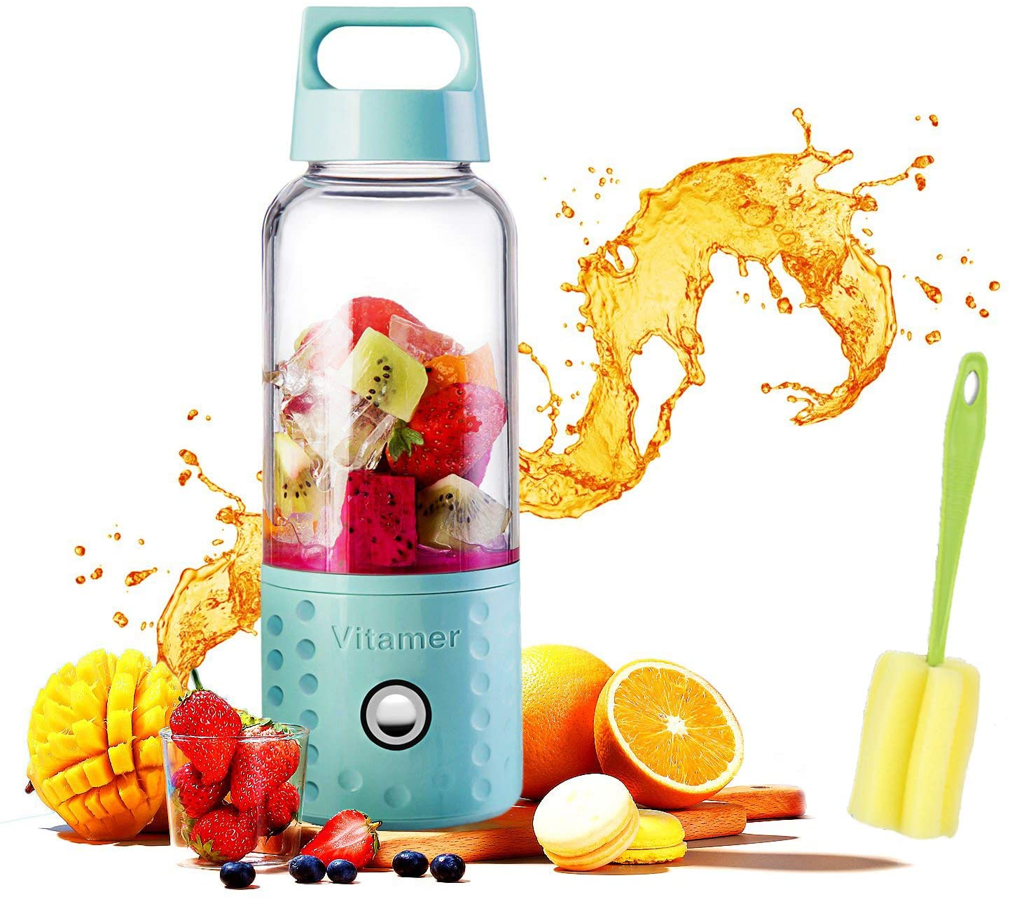 CAFE 63 Vitamer Portable USB Rechargeable Mini Juicer and Portable Blenders