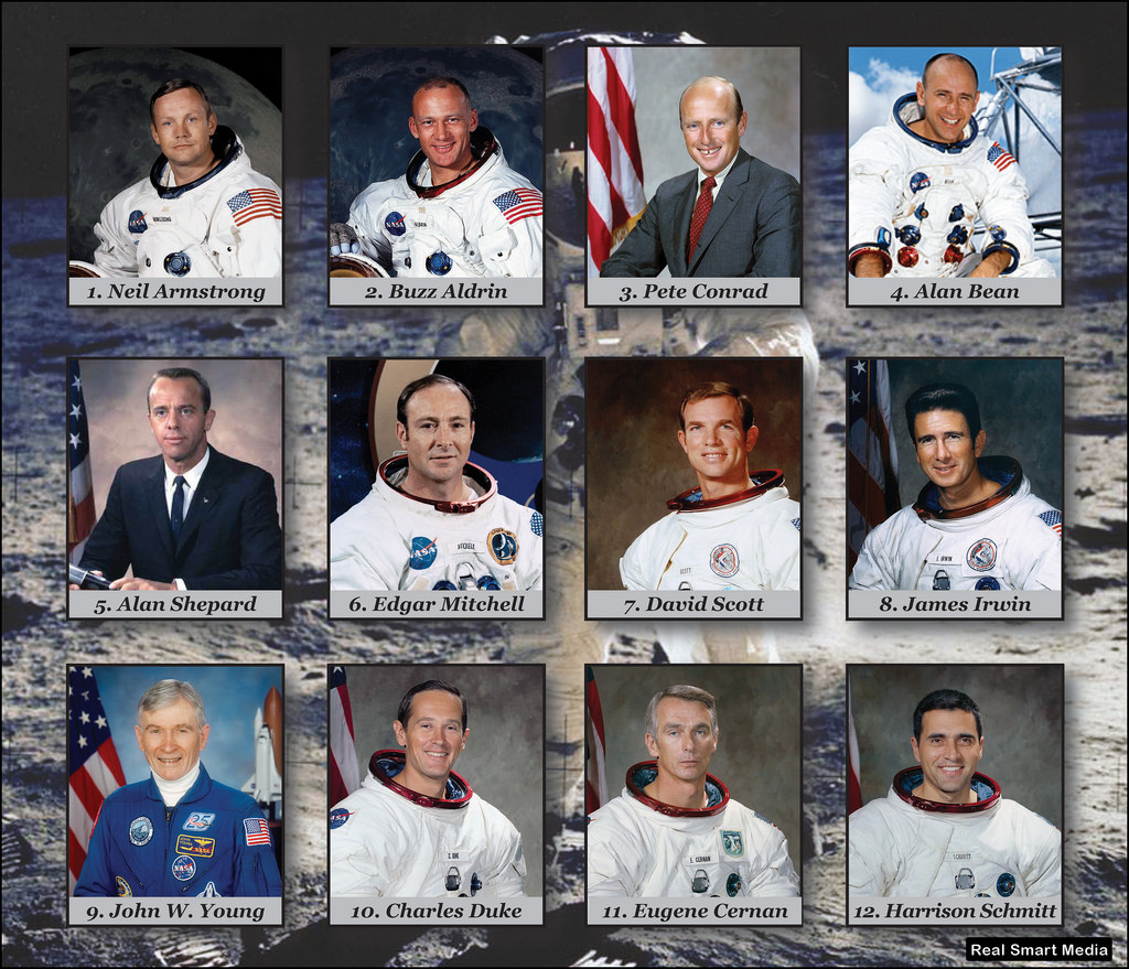 Image result for 12 astronauts who walked on the moon