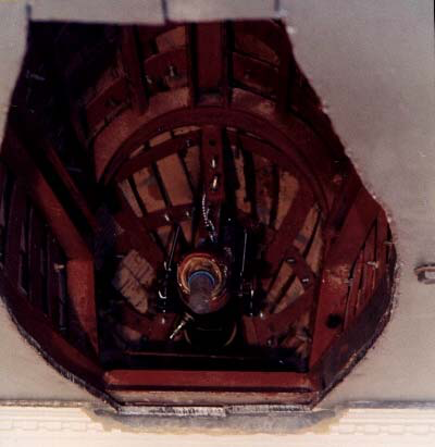 Internal view of the dummy indicating the mounted AV with a water-jacketed collection tube.