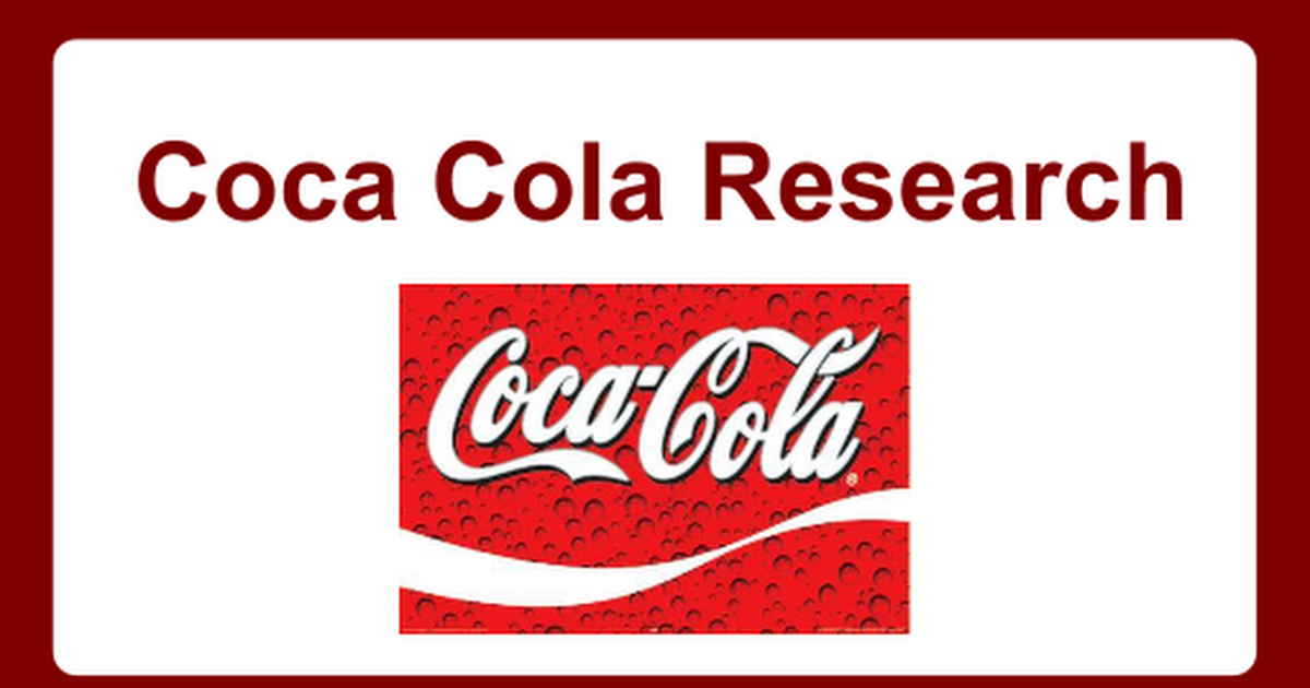 coca cola research Scientific research claiming that diet drinks could be better than water  it was  funded by the institute whose members include coca-cola and.