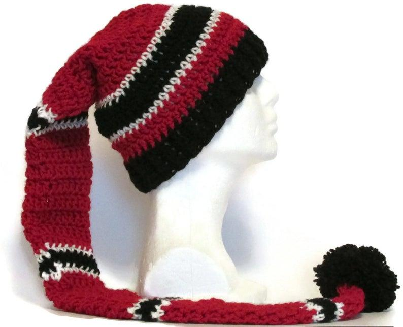 3 ft long striped stocking cap-sleeping cap/toboggan hat in image 0