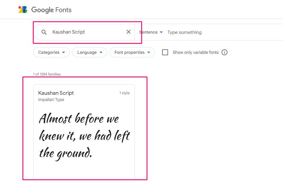 Подбор шрифта в Google Fonts