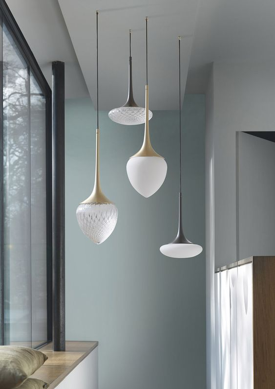 pendant 13306 in solid brass hand-blown glass usona home leanne bunnell interior design favourites