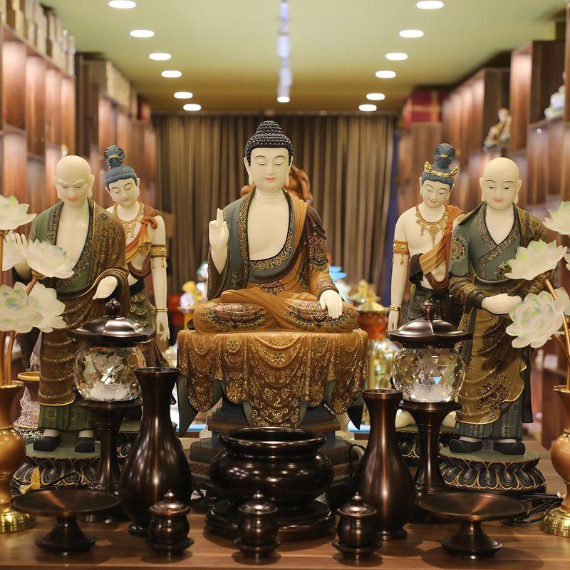 Bộ Tượng Đức Phật Thích Ca -Tôn Giả A Nan Ca Diếp