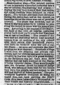 Emancipation Day in Baltimore, Baltimore Clipper, November 2, 1864