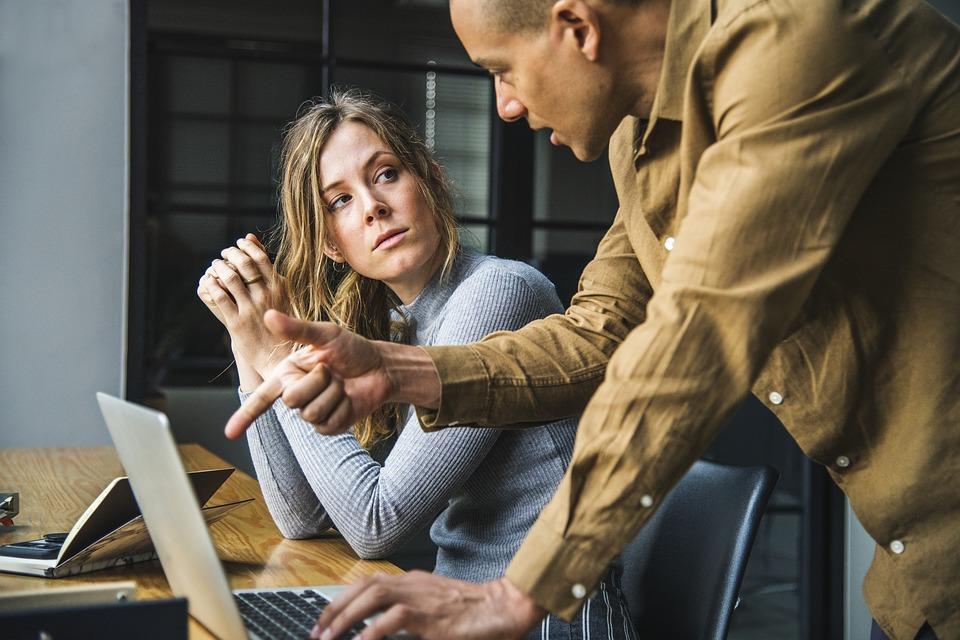 アクション, ブレーンストーミング, ビジネス, コラボレーション, 同僚, 通信, コンピュータ
