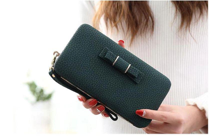 f707b3c8e29 Womens Wallets Leather Long Clutch Card Holder Genuine Lady Purse ...