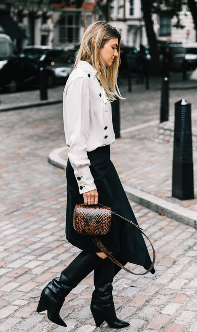 trendy looks, black and white combinations 8