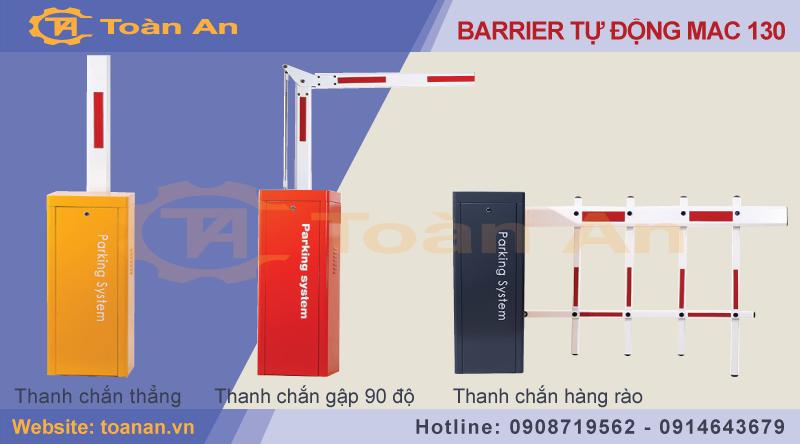 Các loại thanh chắn( cánh tay) của barrier tự động mac 130.