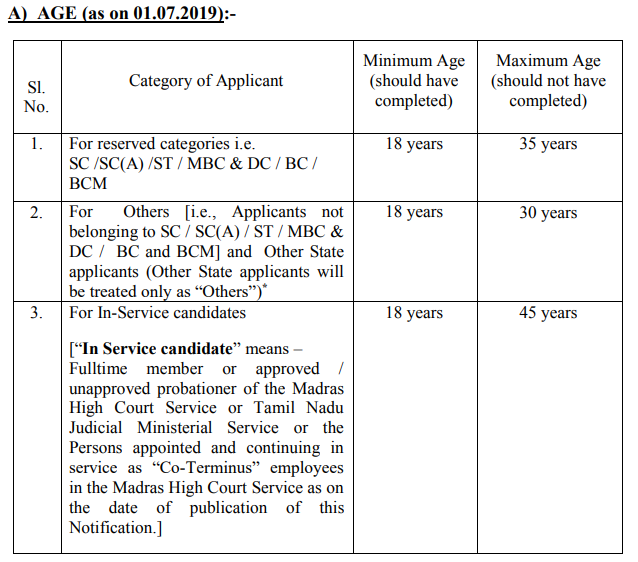Madras High Court recruitment 2019 1