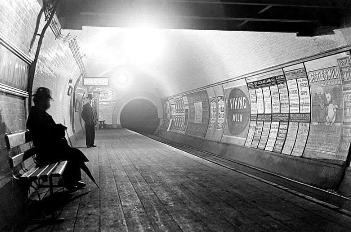 Uma estação no início do século XX.