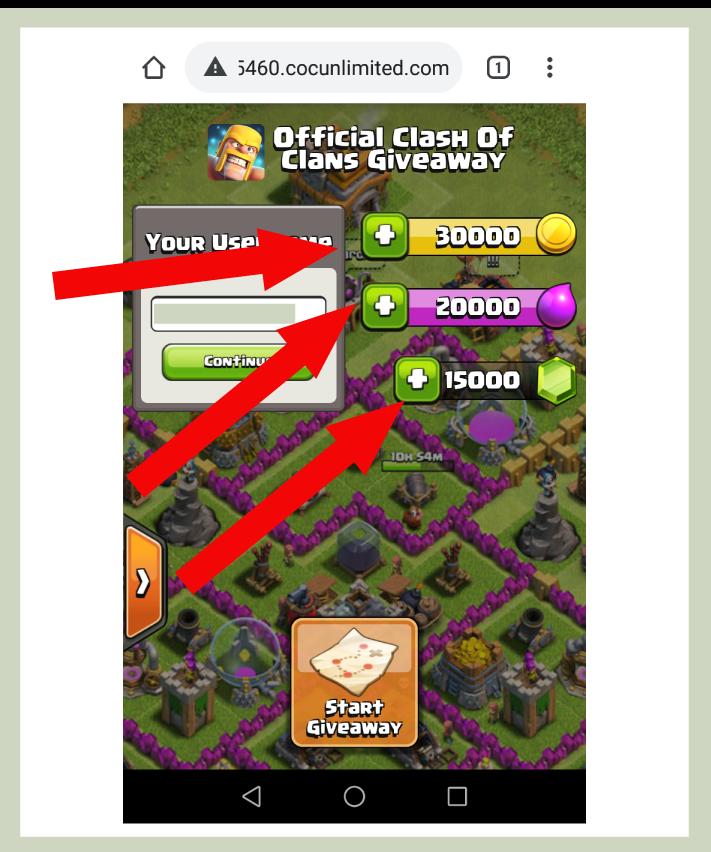 coc free gems generator step 3