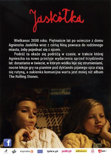 Tył ulotki filmu 'Jaskółka'
