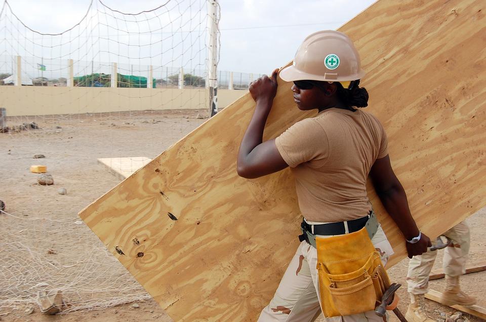 Construction, Worker, Building, Job, Site, Female