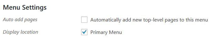 choosing website menu locations wordpress