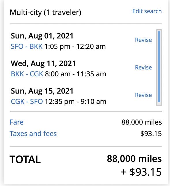 A Multi-city trip